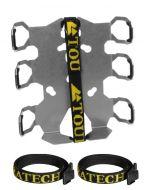 ZEGA Pro/ZEGA Mundo - Adapter Plate with straps protection: bottle holder double050-0916 050-0915Zega Pro - Adapter Plate Bottle Holder