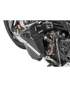Toolbox with engine crash bar - retrofit kit - left side, stainless steel for Yamaha Tenere 700
